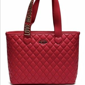LOVE MOSCHINO Fashion Quilted Eco-Leather Tote